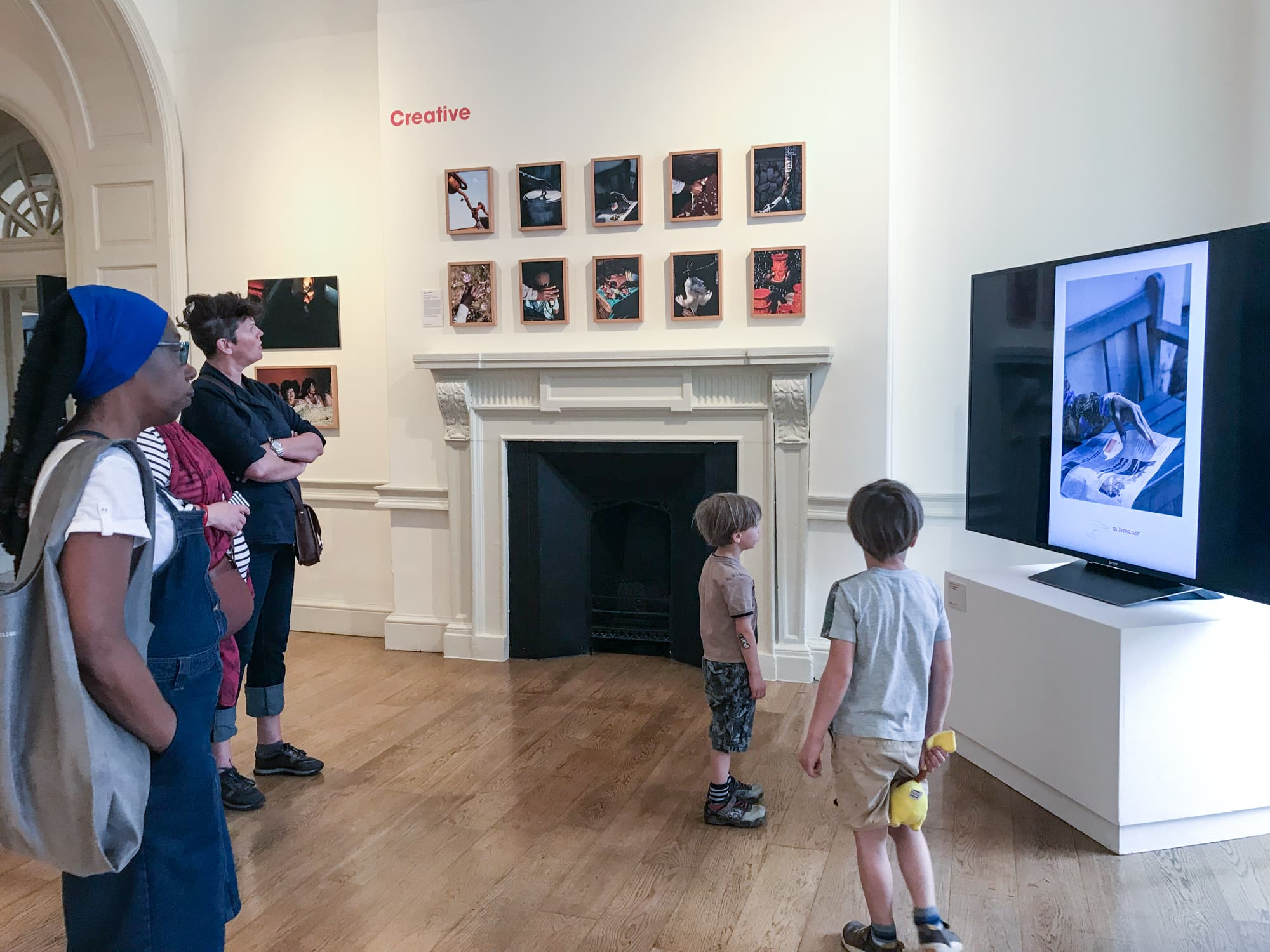 """Exhibition of """"How to get home"""" at Somerset House, London, for the Sony World Photo Award 2018, Category Creative."""