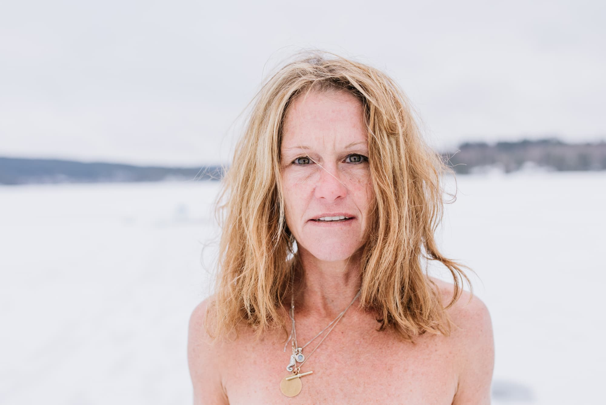 Story on South African freediver Amber Fillary trying to break the Guinness world record on March 21st, 2019, for diving 60 m under solid ice in nothing but a bikini.