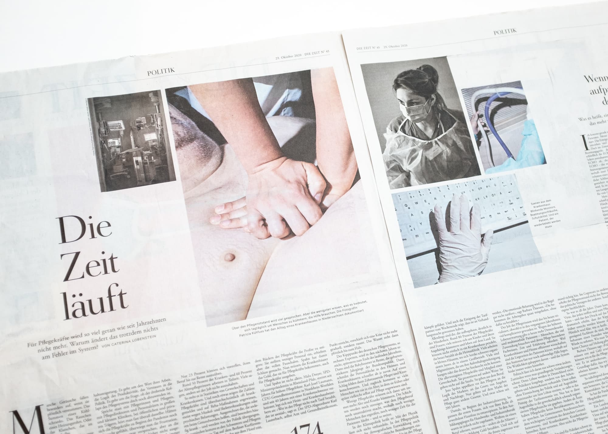 """Publication of """"Nicht müde werden"""" in Die Zeit  45/2020."""