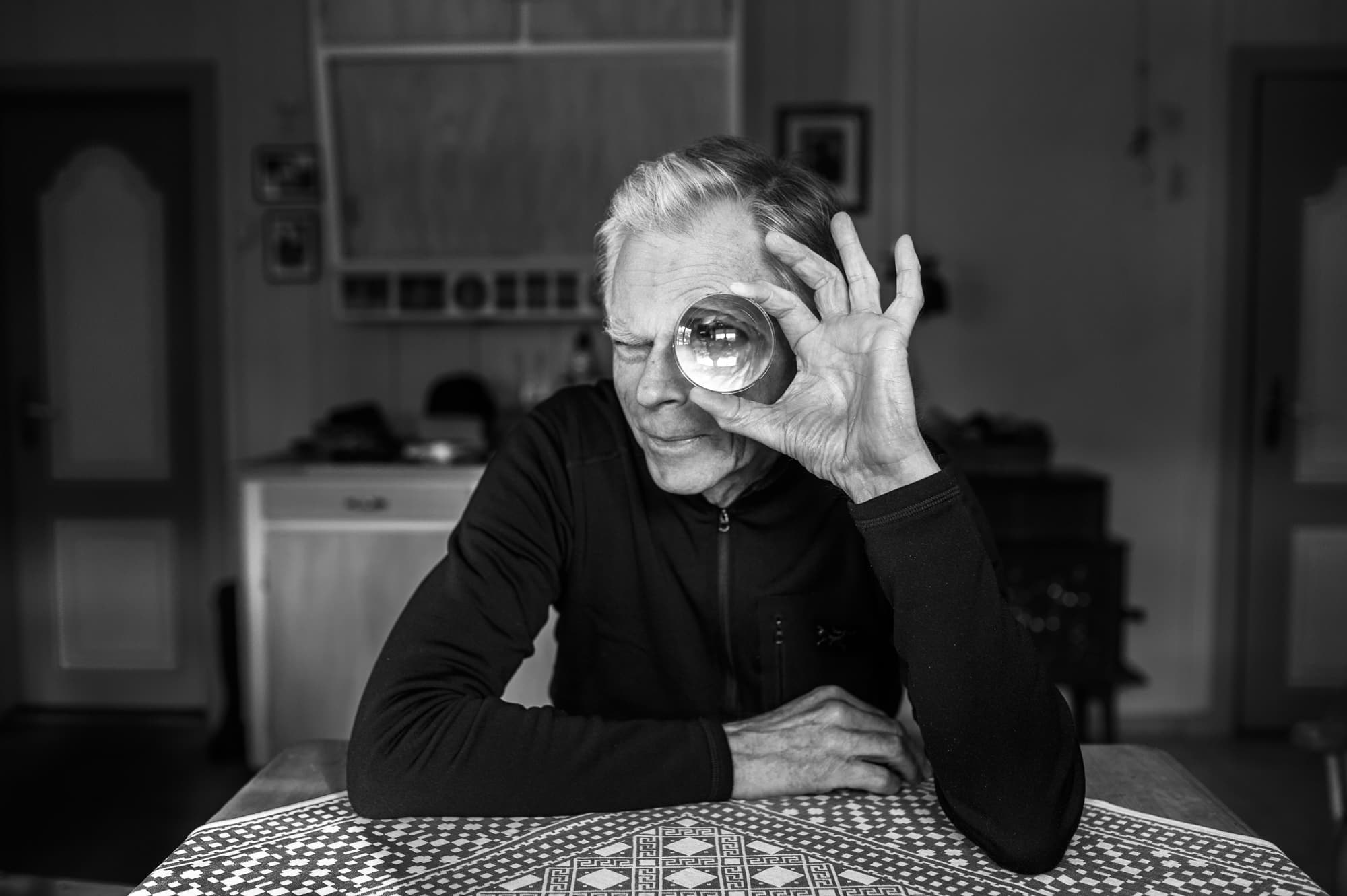 Portrait of Knut Bry, photographer, in his house on March 9th, 2015.