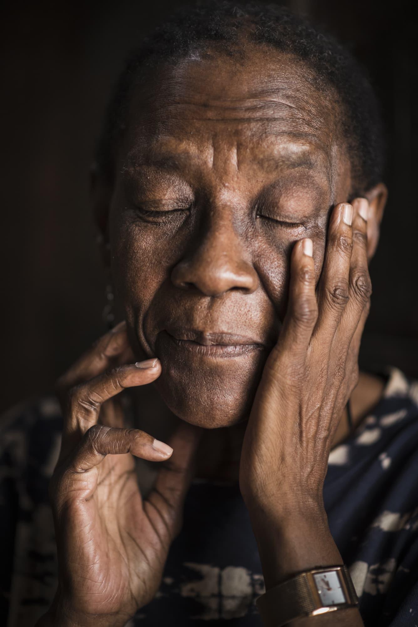 Portrait of Kediagetse Mosimane alias Sister Bucks, a textile designer with focus on African Heritage