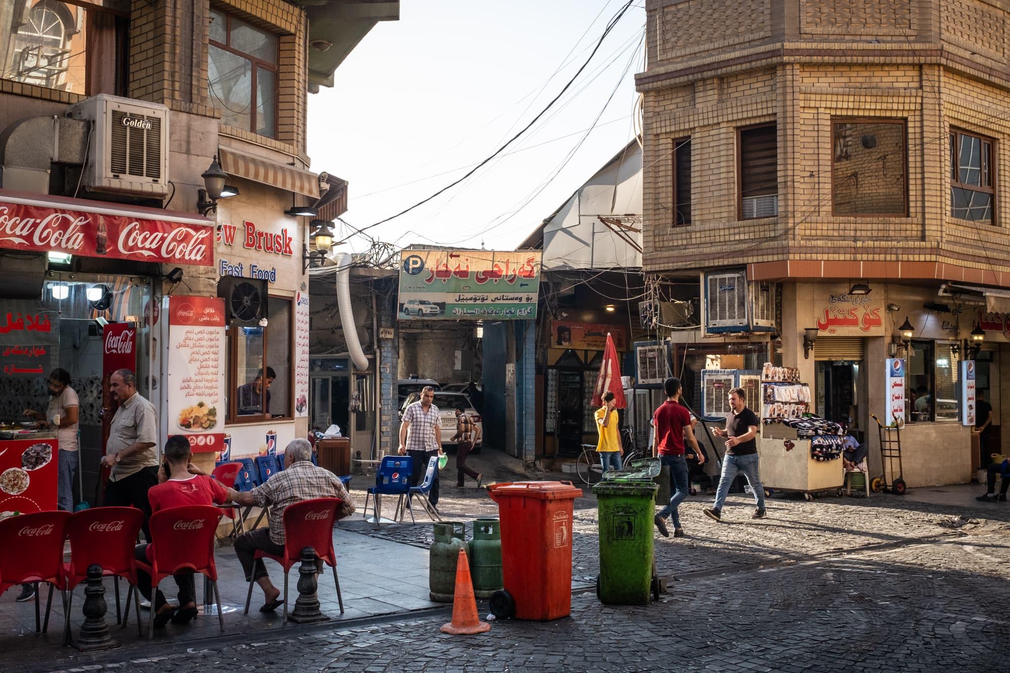 Street scene in the city center of Erbil, Iraq, on Sept 3rd, 2019.