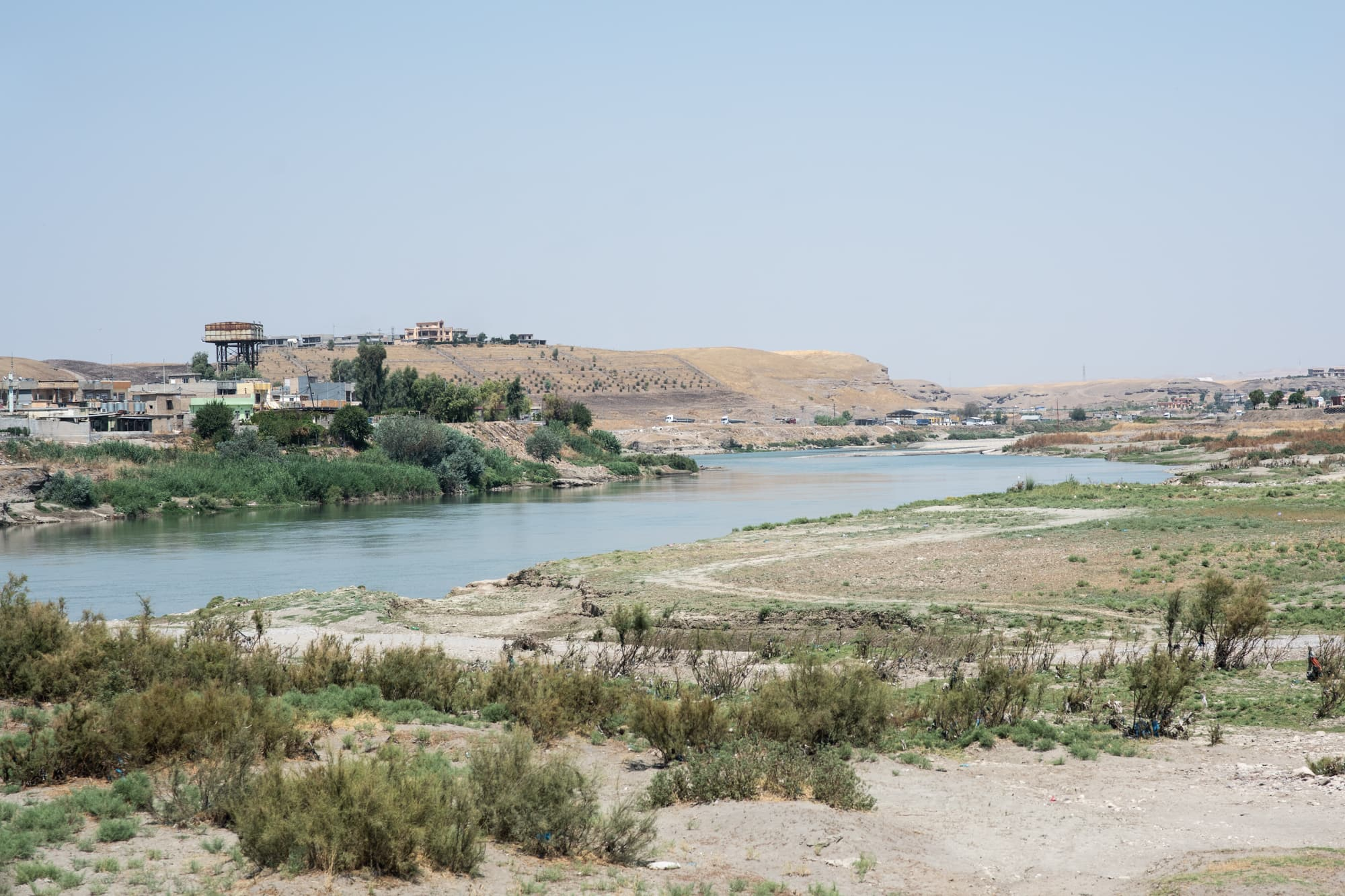 The Great Zab, a river west of Erbil, Iraq, on Sept 2nd, 2019.