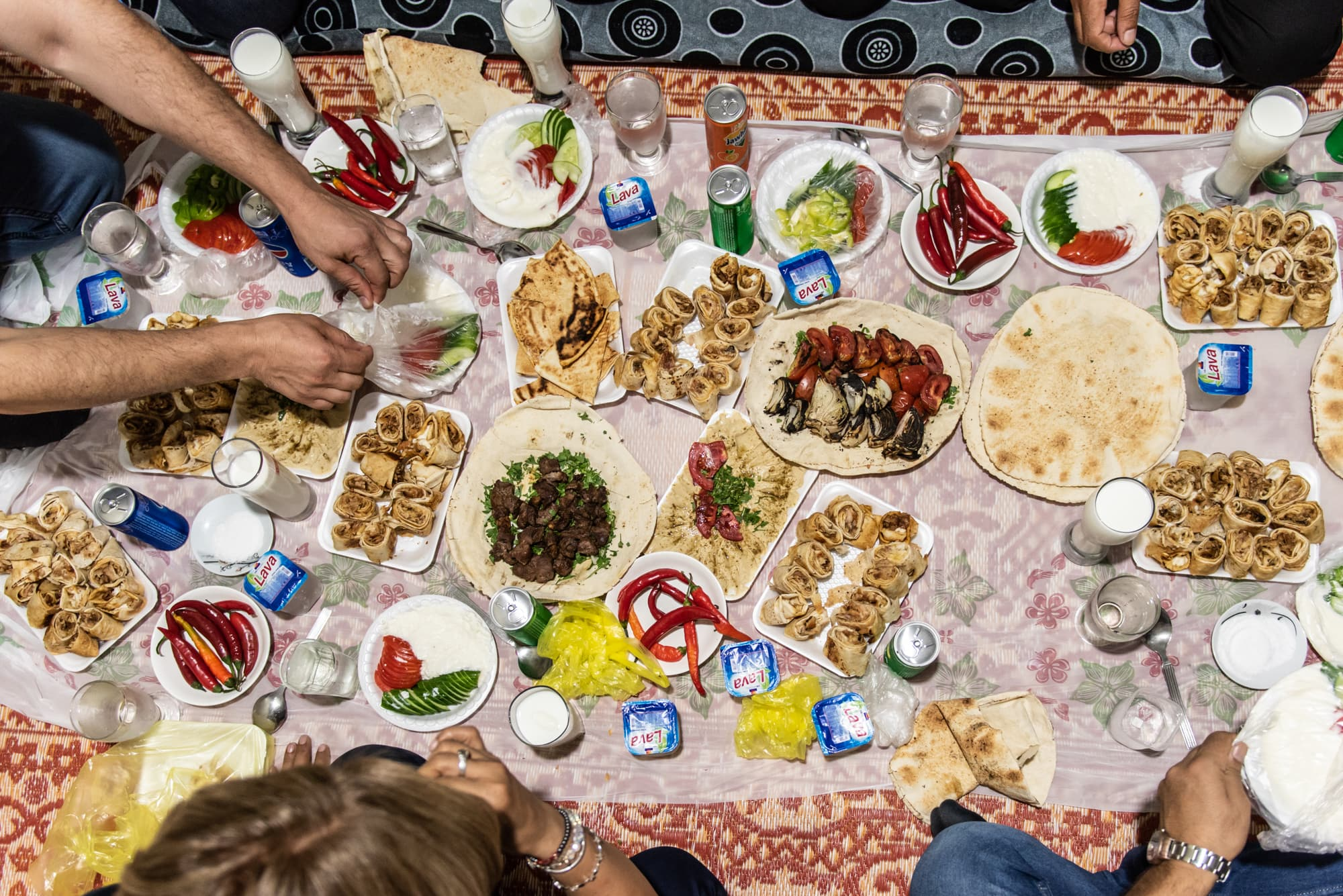 Syrian Food at Gawilan refugee camp, Iraq, on Sept 2nd, 2019.